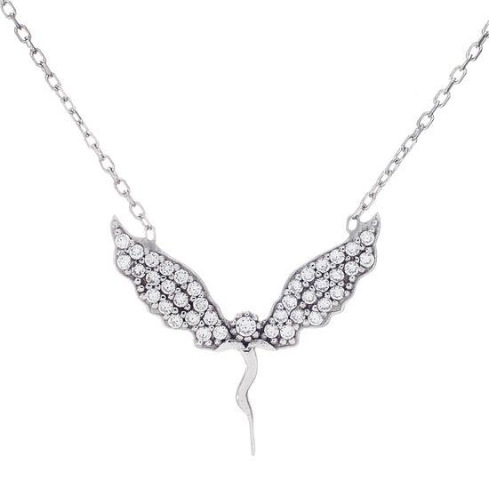 Imagen de Cubic Zirconia Fairy Pendant 17+1 Cable Chain Necklace