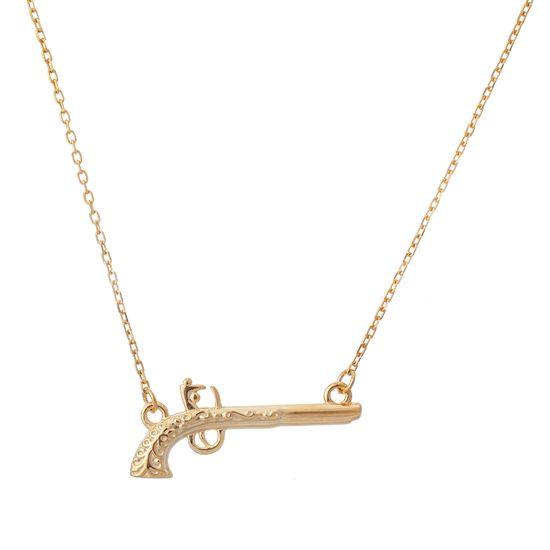 Imagen de Sterling Silver Gun Plate Necklace