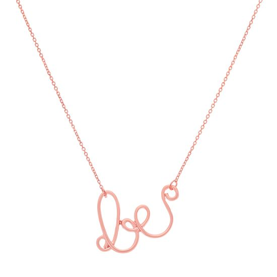 Imagen de Sterling Silver Matte BE Cable Chain Necklace