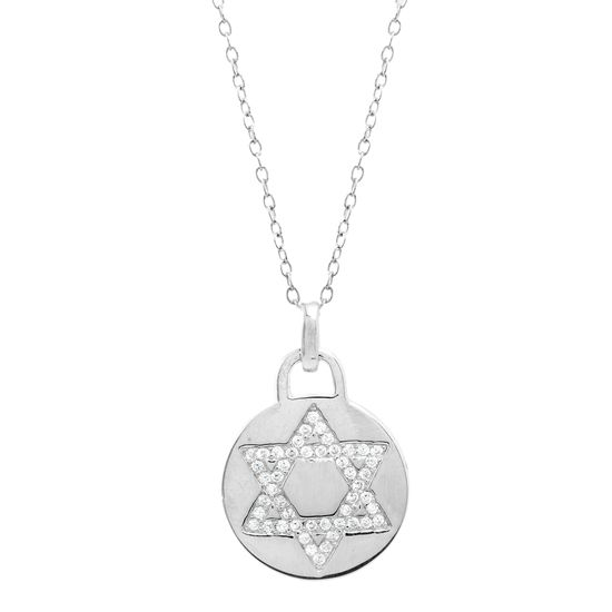 Imagen de Star of David Necklace in Sterling Silver
