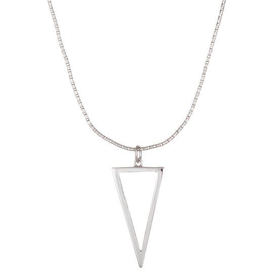 Imagen de Sterling Silver Ecoat Open Triangle Necklace