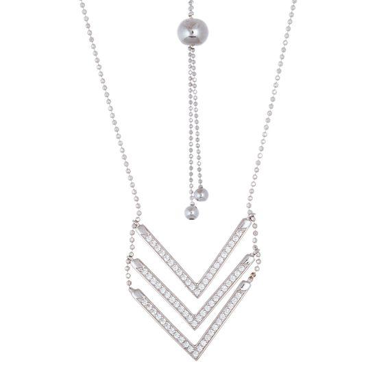 Imagen de Triple Cubic Zirconia V 30 Necklace
