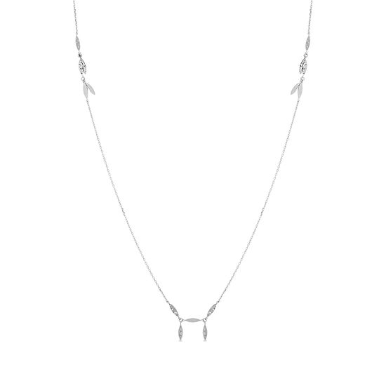 Imagen de Sterling Silver Hammered Oval Bars Necklace