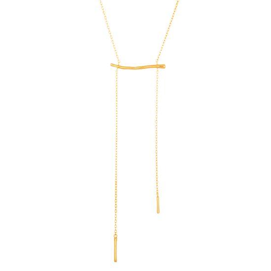Imagen de Sterling Silver Double Bar Necklace