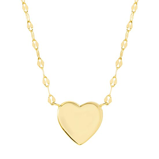 Imagen de Sterling Silver Heart Station Necklace
