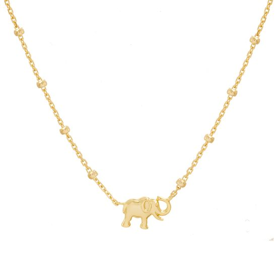 Imagen de Sterling Silver Elephant Pendant 16 Cable Chain Necklace