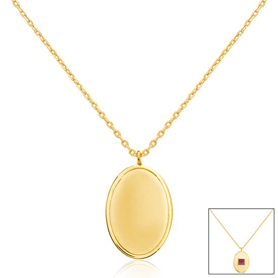 Imagen de Gold-Tone Brass Oval Old Testament Nano My Bible Cable Chain Necklace