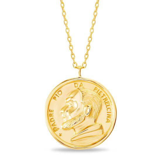 Imagen de Gold-Tone Brass Religious Medal Cable Chain New Testament My Nano Bible Necklace