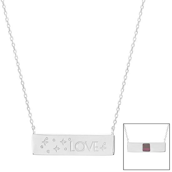 Imagen de Silver-Tone Brass LOVE ID Bar Old Testament Nano My Bible Cable Chain Necklace