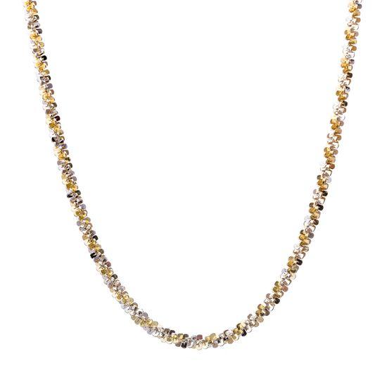Imagen de Two-Tone Sterling Silver Twisted Design Margarita Chain Necklace