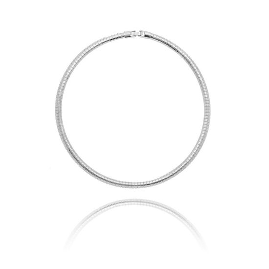Imagen de Silver-Tone Brass 18 Tubetto Chain Necklace