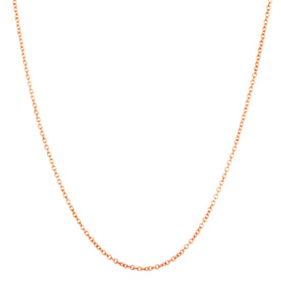 Imagen de Cable Chain Necklace in Rose Gold over Brass
