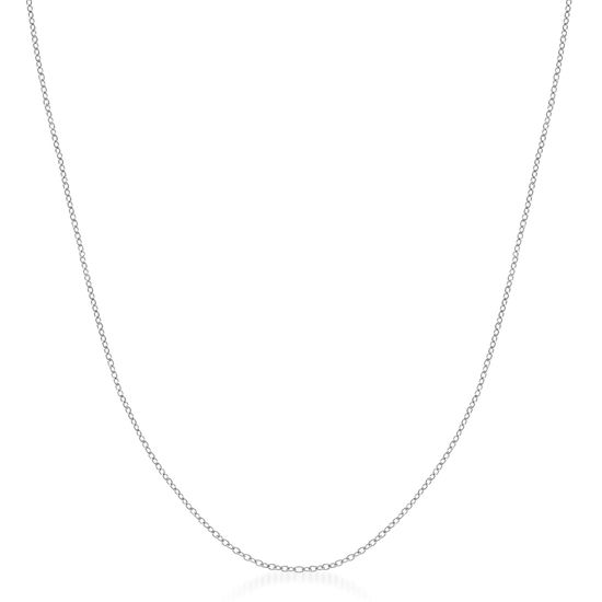 Imagen de Rhodium Plated Brass Cable Chain Necklace
