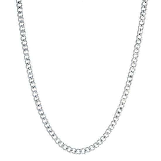 Imagen de Silver-Tone Stainless Steel Curb 24 Necklace