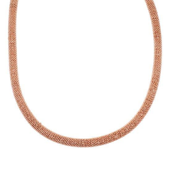 Imagen de Stainless Steel 2 Tone Rose Popcorn Magnetic Necklace