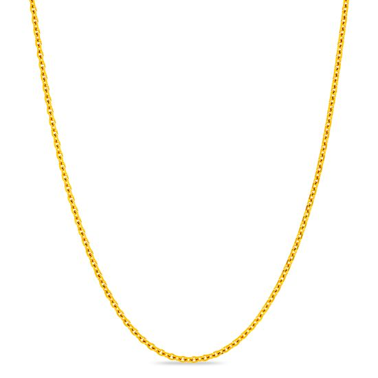 Imagen de Gold-Tone Stainless Steel 3mm IP 24 Rolo Chain Necklace