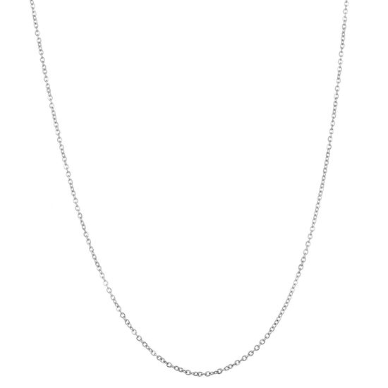 Imagen de Silver-Tone Stainless Steel Cable Chain Necklace