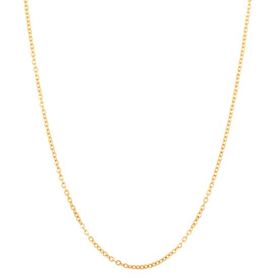 Picture of Gold-Tone Stainless Steel Cable Chain Necklace