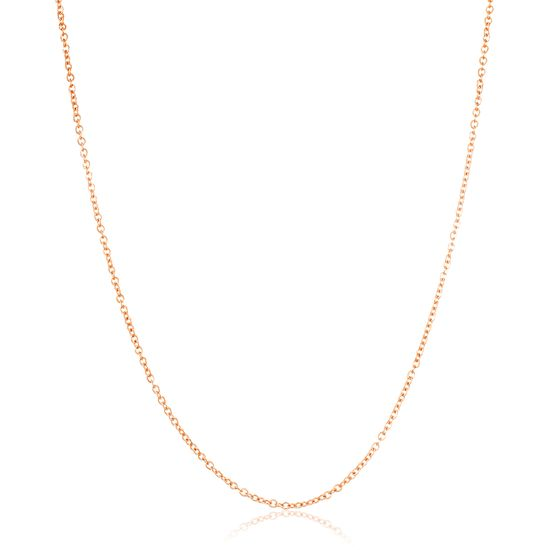 Imagen de Rose-Tone Stainless Steel Cable Chain Necklace