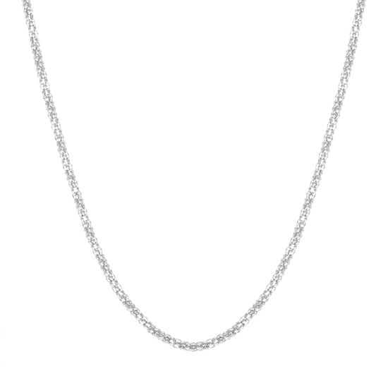 Imagen de Silver-Tone Stainless Steel 30 Popcorn Chain Necklace