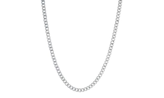 Imagen de Silver-Tone Stainless Steel Mens 24 Curb Chain Necklace