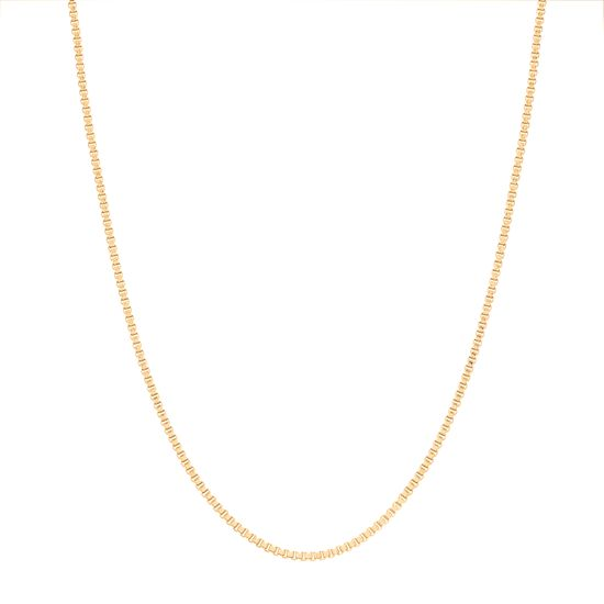 Imagen de Gold Tone Stainless Steel Box Chain Necklace 20