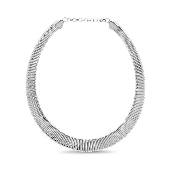 Imagen de Silver-Tone Alloy Ribbed U-Shaped Collar Necklace