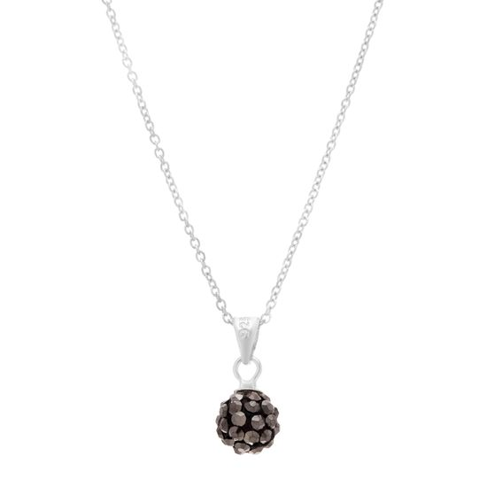 Imagen de Sterling Silver Hematite Grey Ball Pendant