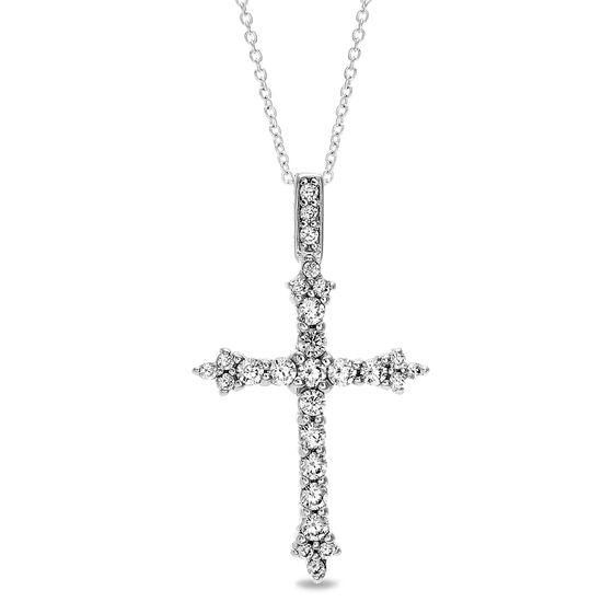 Imagen de Sterling Silver Cubic Zirconia Cross Pendant