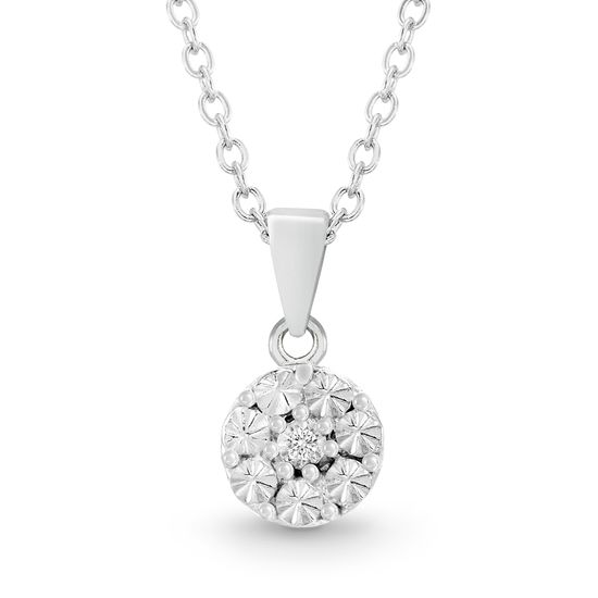 Imagen de Diamond Accent Pendant Necklace in Rhodium over Sterling Silver