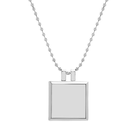 Imagen de Polished Square Pendant in Stainless Steel