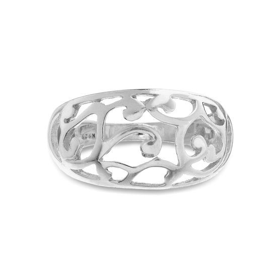 Imagen de Heart Filigree Ring in Sterling Silver