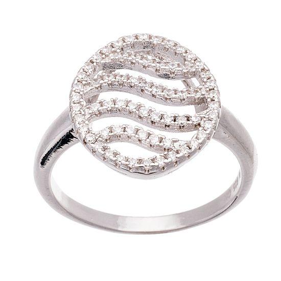 Imagen de Sterling Silver Cushion Cubic Zirconia Ring