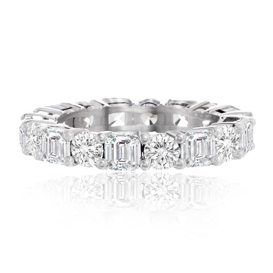 Imagen de Cubic Zirconia Eternity Band Ring in Sterling Silver