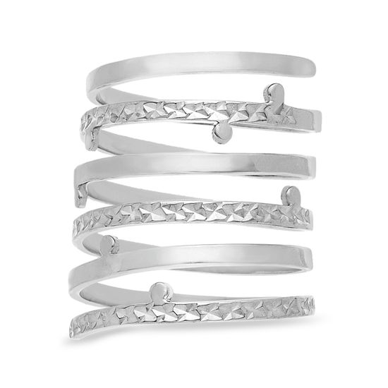 Imagen de Sterling Silver Textured Spring Coil Ring