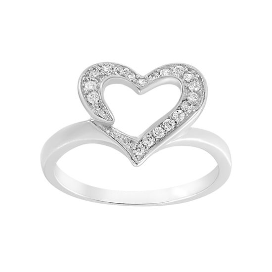 Picture of Cubic Zirconia Open Heart Ring
