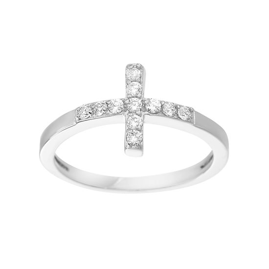 Picture of Cubic Zirconia Cross Ring