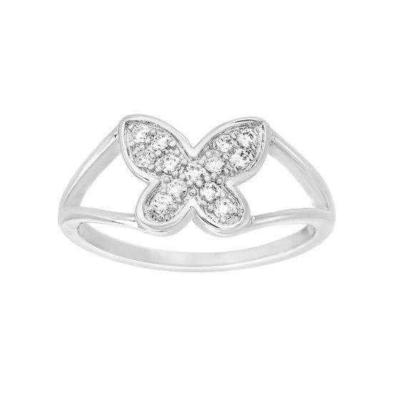 Imagen de Cubic Zirconia Open Side Butterfly Ring