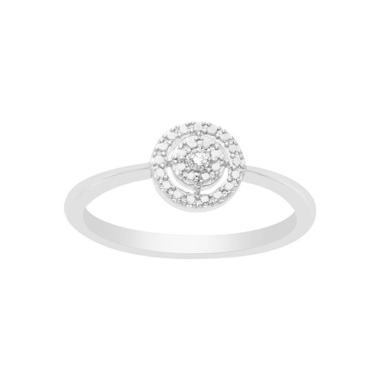 Imagen de BRASS RHODIUM DIAMOND ACCENT OPEN CIRCLE RING