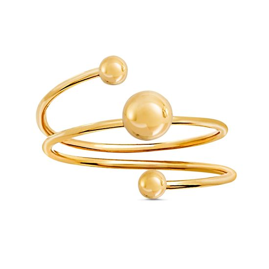 Imagen de Brass Triple Ball Wrap Around Ring