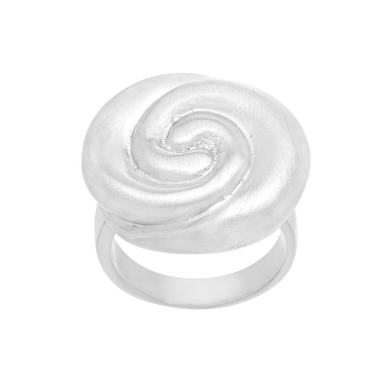 Imagen de Satin Swirl Band Ring in Stainless Steel