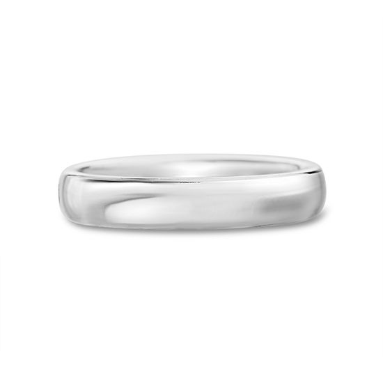Imagen de Silver-Tone Stainless Steel Band Ring Size 7