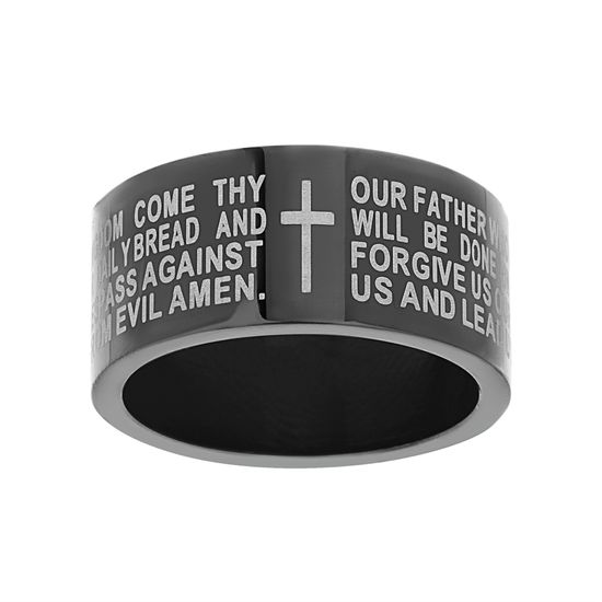 Picture of Two-Tone Stainless Steel Men's Prayer Ring Size 9