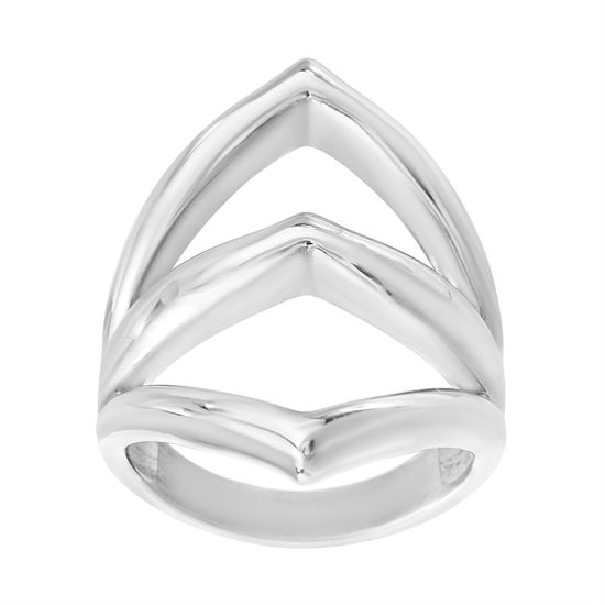 Imagen de Wavy Triple V Ring in Stainless Steel