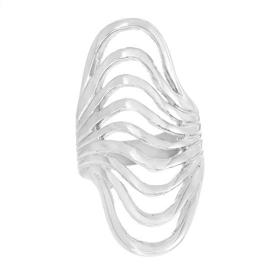 Imagen de Silver-Tone Stainless Steel 9 Strand Open Wavy Ring Size 9