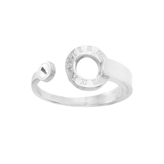 Imagen de Silver-Tone  Roman Numeral Open Circle Ring Size 9