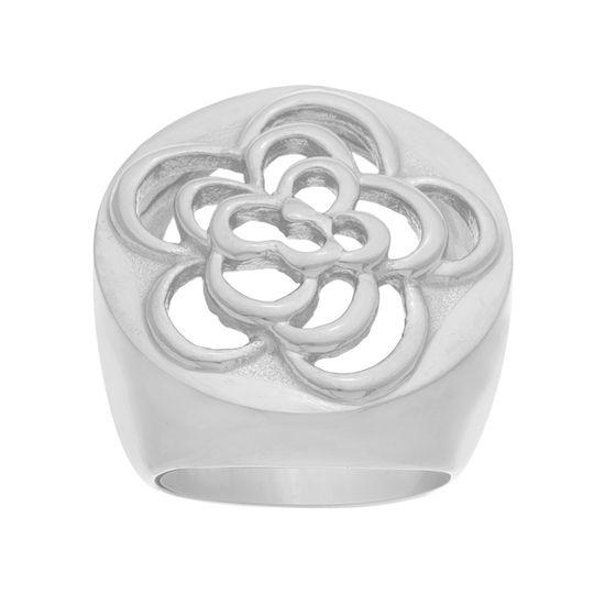 Imagen de Filigree Flower Ring in Stainless Steel