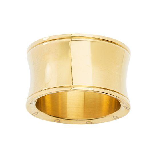 Imagen de STAINLESS STEEL GOLD IP CONCAVE RING