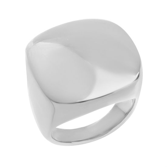 Imagen de Gold-Tone Stainless Steel Flat Square Design Ring Size 6