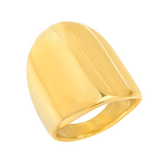 Picture of Gold-Tone Stainless Steel Oval Ring Size 8
